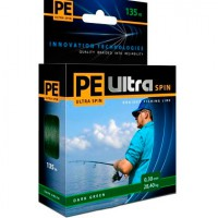 Шнур плетеный PE Ultra Spin Dark Green 135м