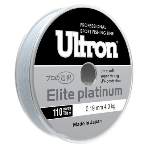 Леска Ultron Elite Platinum 100м серебро